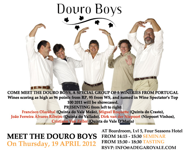 與Douro Boys一同品酒 Meet and Drink with the Douro Boys!