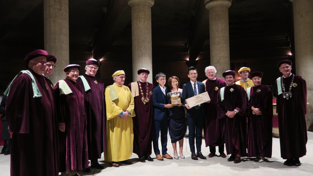 HKU SPACE Wine Team won the 2019 Left Bank Bordeaux Cup